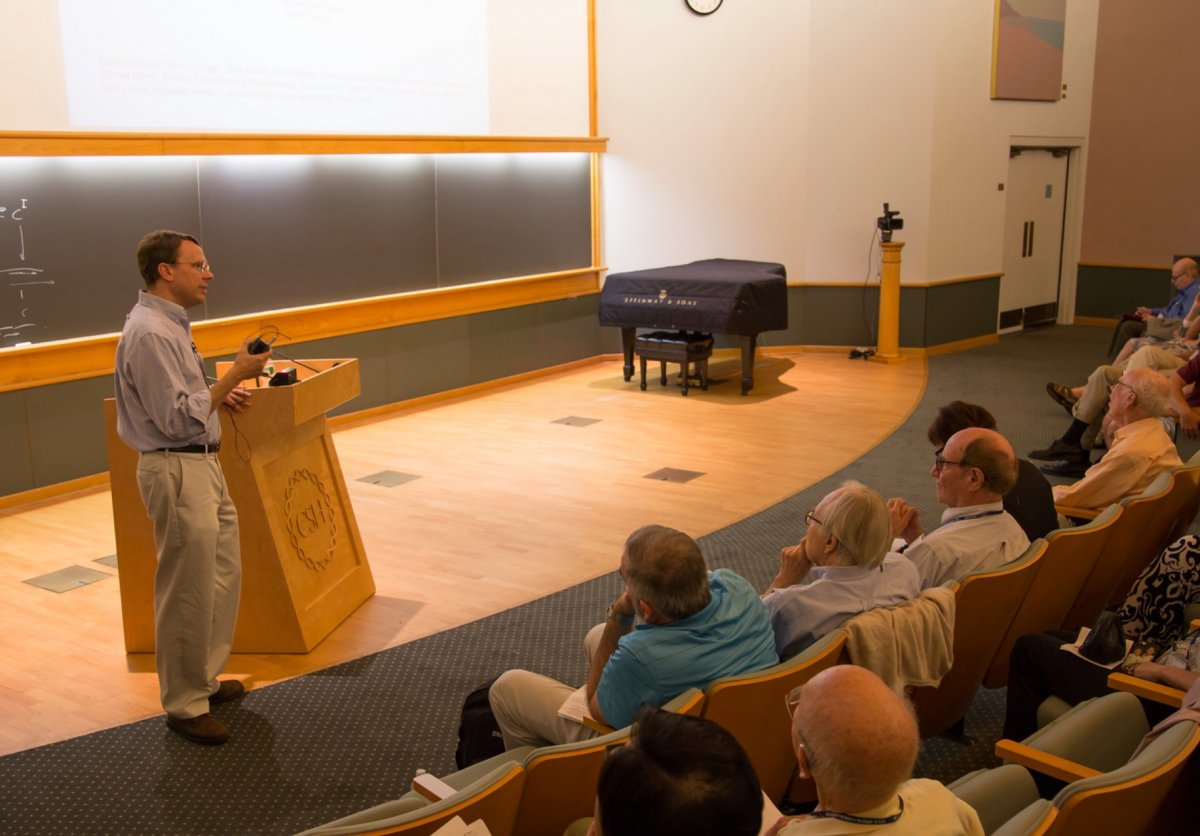 Steve speaking at CSHL
